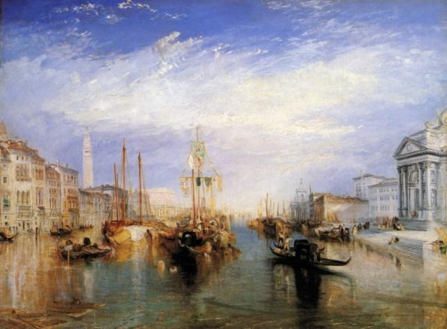 Joseph William Turner, Venecia desde el pórtico de Santa María della Salute, 1835, Nueva york, en el museo Metropolitano de arte.