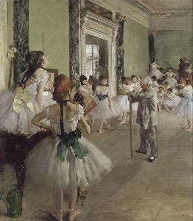 Edgar Degas, La clase de ballet, (1871-1874).4)