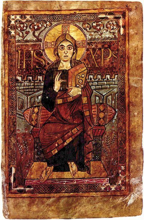 """""""Cristo"""", evangelario de Godescalco, (781-783)"""