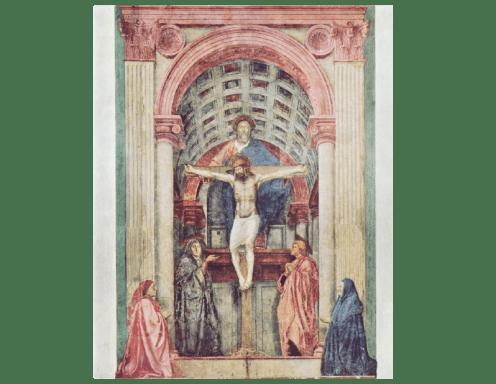 La trinidad, Masaccio, 1427-1428 (Santa María Novella, Florencia)