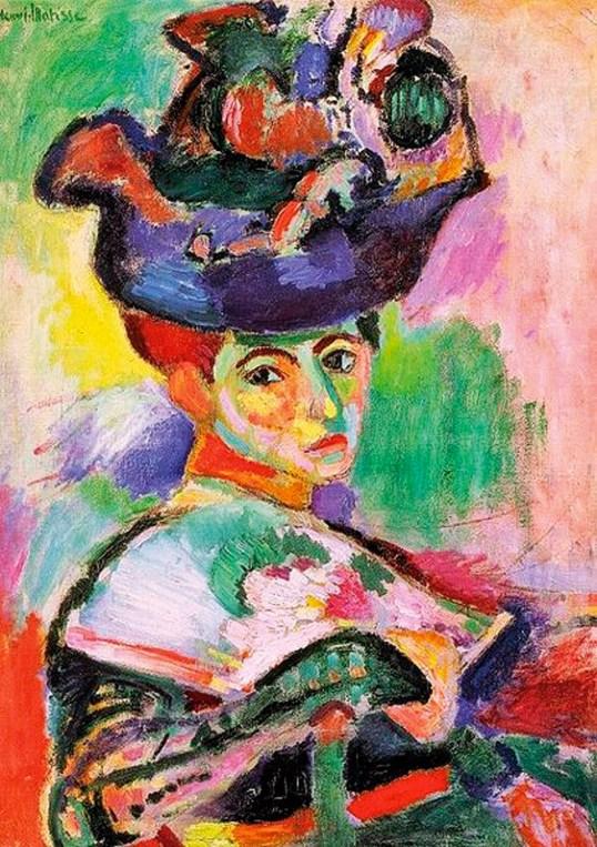 Henri Matisse, Mujer con sombrero, fauvismo, expuesta en el salón de D'Automne en 1905