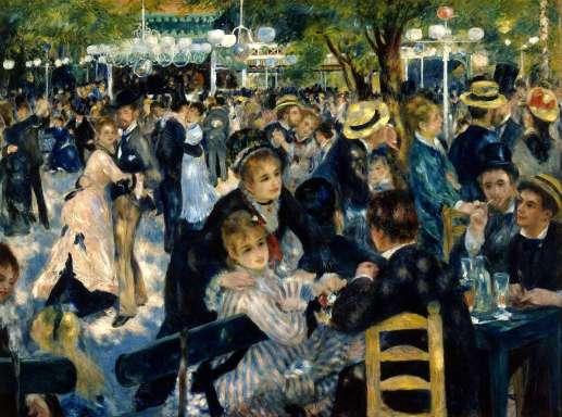 Renoir, Moulin de Galette,1876, Museo D`Orsay, París.