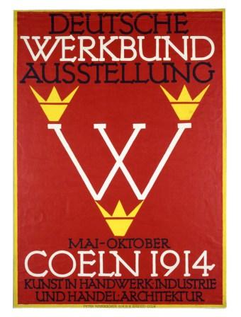 Fritz Hellmut Ehmcke, Cartel para la Deustche Werkbund,1914
