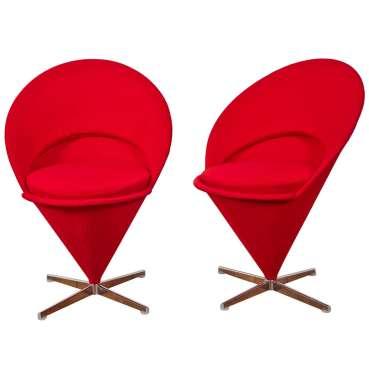 """Diseñador danés, Verner Panton, Silla """"K1 Cone"""", 1958."""