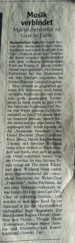 Allgäuer Zeitung, 3.1.2017 - mit freundlicher Genehmigung der Allgäuer Zeitung