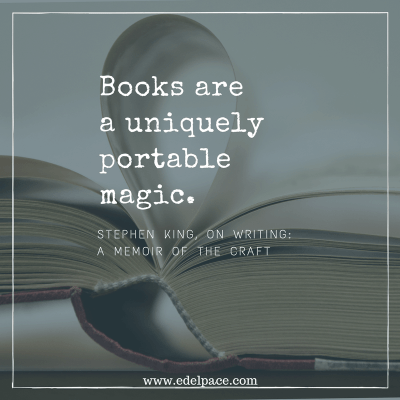 Books are a uniquely portable magic.