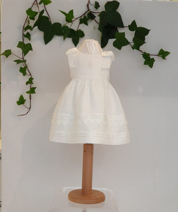 robe patachou lin blanc