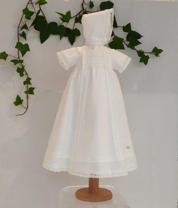 Robe de bapteme longue Paz blanche