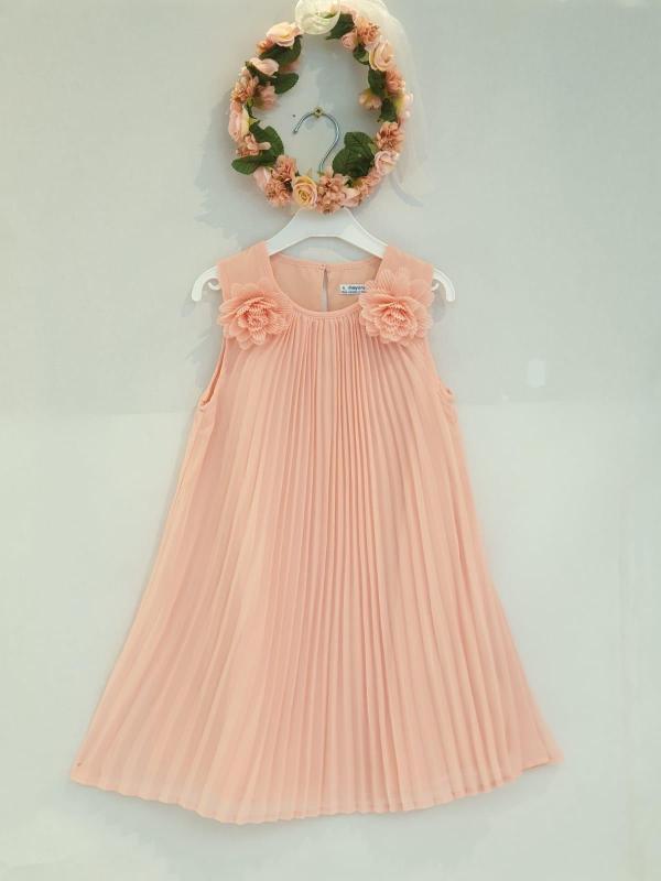 Robe plissée saumon 46 euros robe plissée du 2 ans au 9 ans