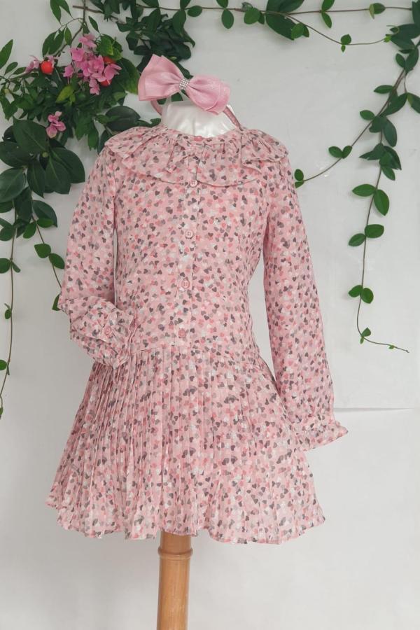 Robe imprimé rose Mayoral 39 euros de 2 ans au 9 ans