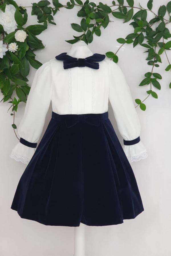 Fille robe patachou marine blanc 95 euros du 4 ans au 14 ans