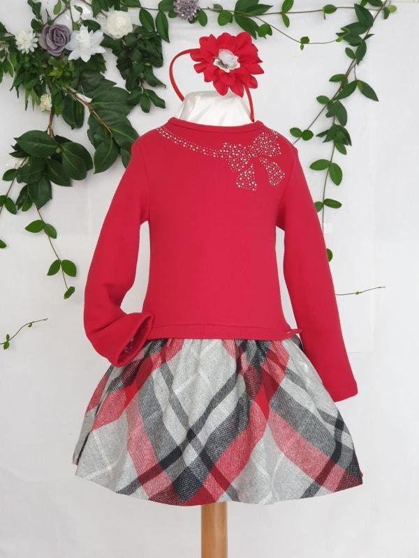 Robe écossaise haut rouge Mayoral 51 euros du 2 ans au 9 ans