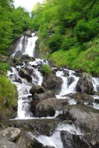 Молочный водопад на озере Рица