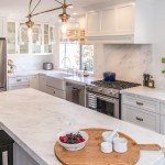 White Shaker Cabinets Carrera Marble Kitchen Remodel Pacific Palisades
