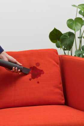 How to clean the sofa from stains at home with your own hands  tips     The furniture upholstery needs to be constantly vacuumed so that the fabric  does not lose its original appearance and prevents dust and crumbs from  getting