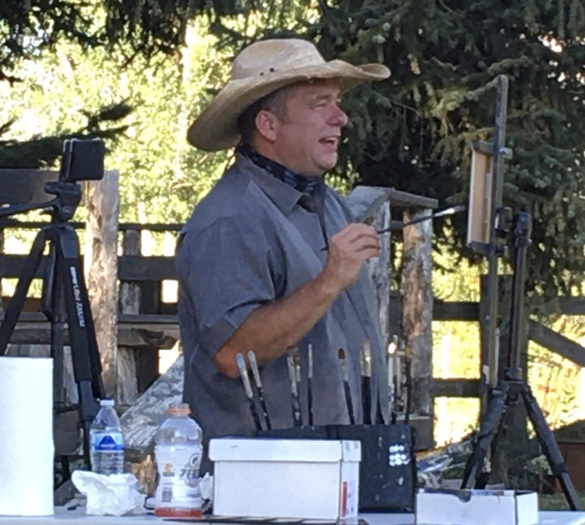 Outdoor oil painting demonstration was amazing