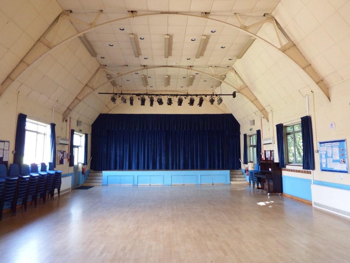 Edenbridge Village Hall venue floor space and stage