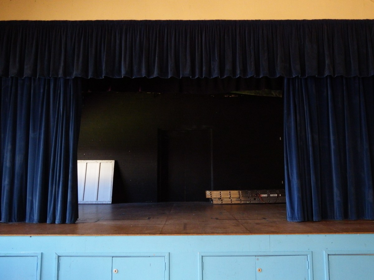 stage at edenbridge village hall