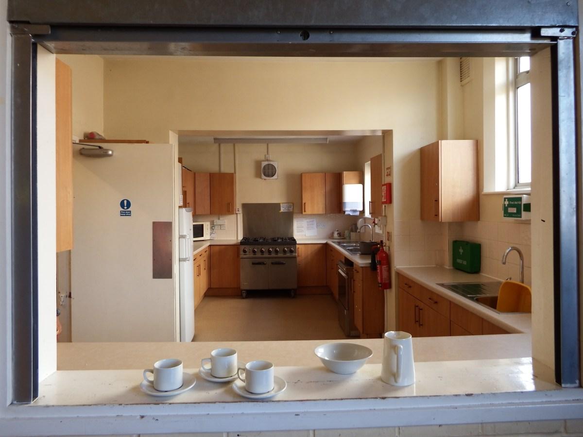 Kitchen facilities at Edenbridge village hall