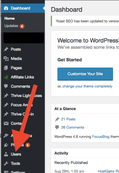 how to change your password in wordpress