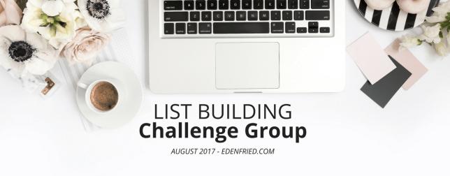 List Building Challenge Group