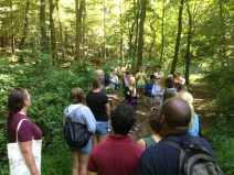Forest walk with Allen and Food Studies Cohort E