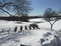 Beautiful snow-covered farm views
