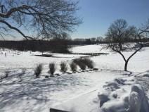 Beautiful snow-covered farm views