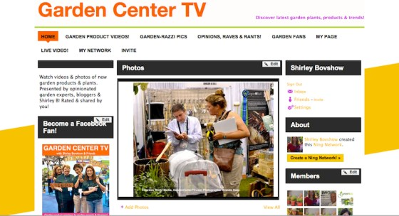 Garden Center TV website garden product previews