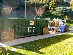 Trash bin for landscape project