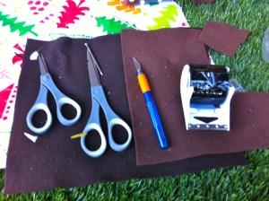 Scissors and Cutting Blade for self watering soda bottle planters