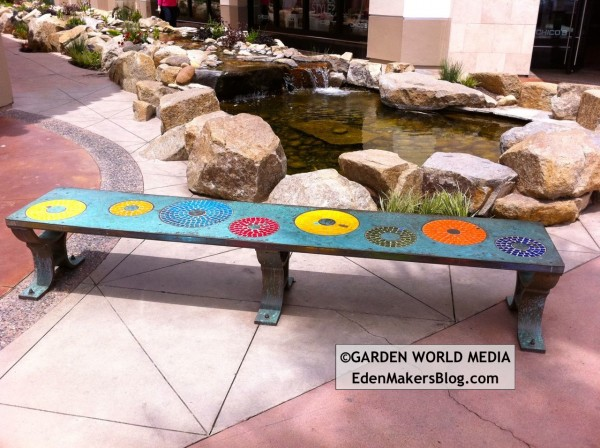 Admirable Custom Mosaic Tile Bench In Garden Eden Makers Blog By Ibusinesslaw Wood Chair Design Ideas Ibusinesslaworg