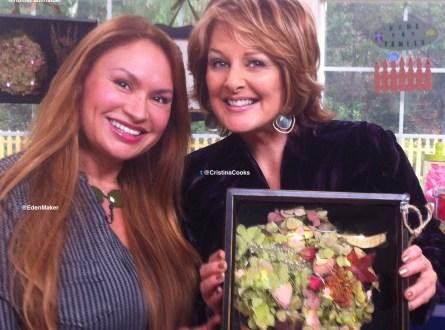 Shirley Bovshow, garden designer with Cristina Ferrare for the Home & Family Show