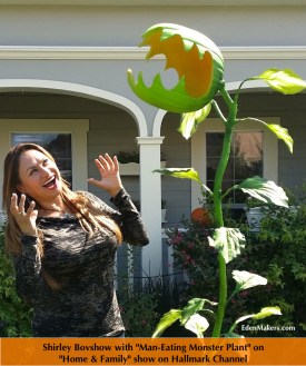 shirley bovshow garden-designer-expert man eating monster plant-for-halloween craft home and-family show edenmakers