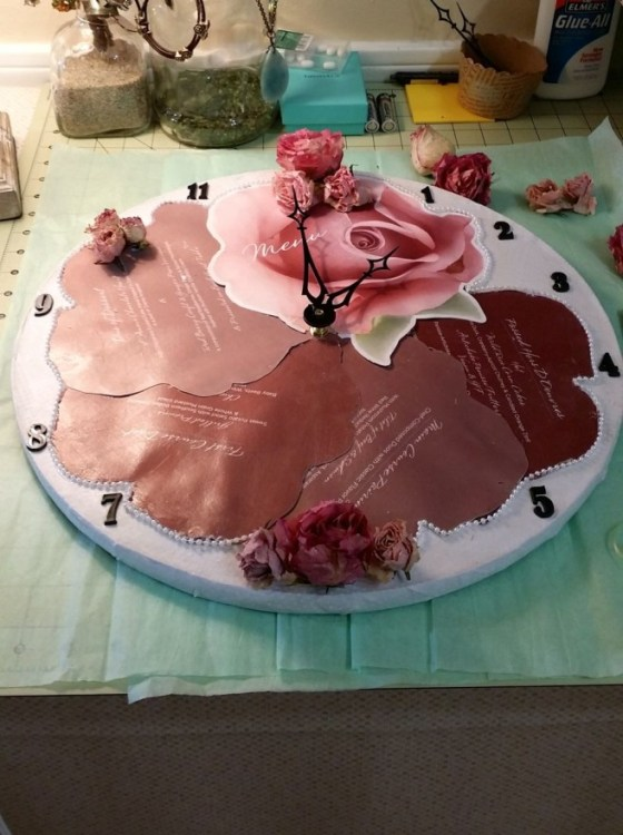 MENU-dried--ROSE-CLOCK-BY-SHIRLEY-BOVSHOW-