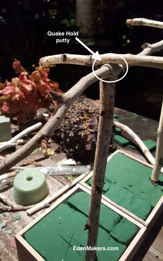 quake-hold-putty-keeps-birch-tree-branches-together-in-miniature-gazebo-edenmakers-blog