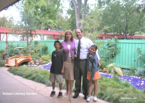 School-Literacy-Garden-Designed-by-Shirley-Bovshow-with-Family-EdenMakers-Blog
