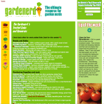 screenshot of gardenerd.com a vegetable gardening site