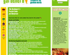 screenshot of gardenerd.com a vegetable gardening site