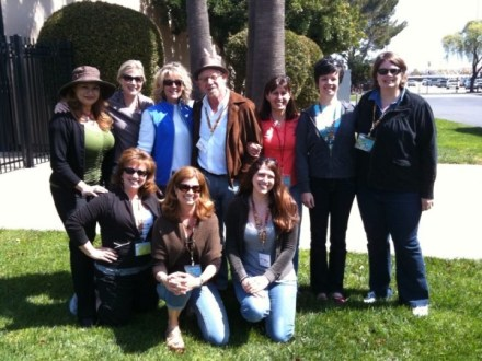 Shirley Bovshow and the new garden media at San Francisco Flower and Garden Show