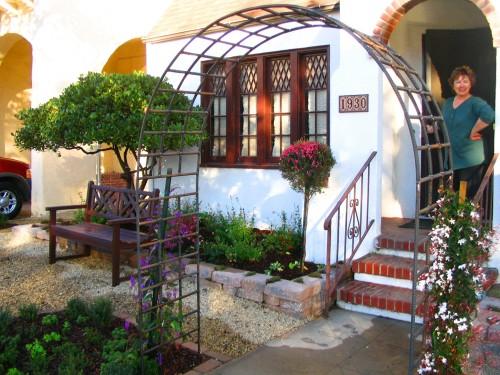 iron rebar garden arch