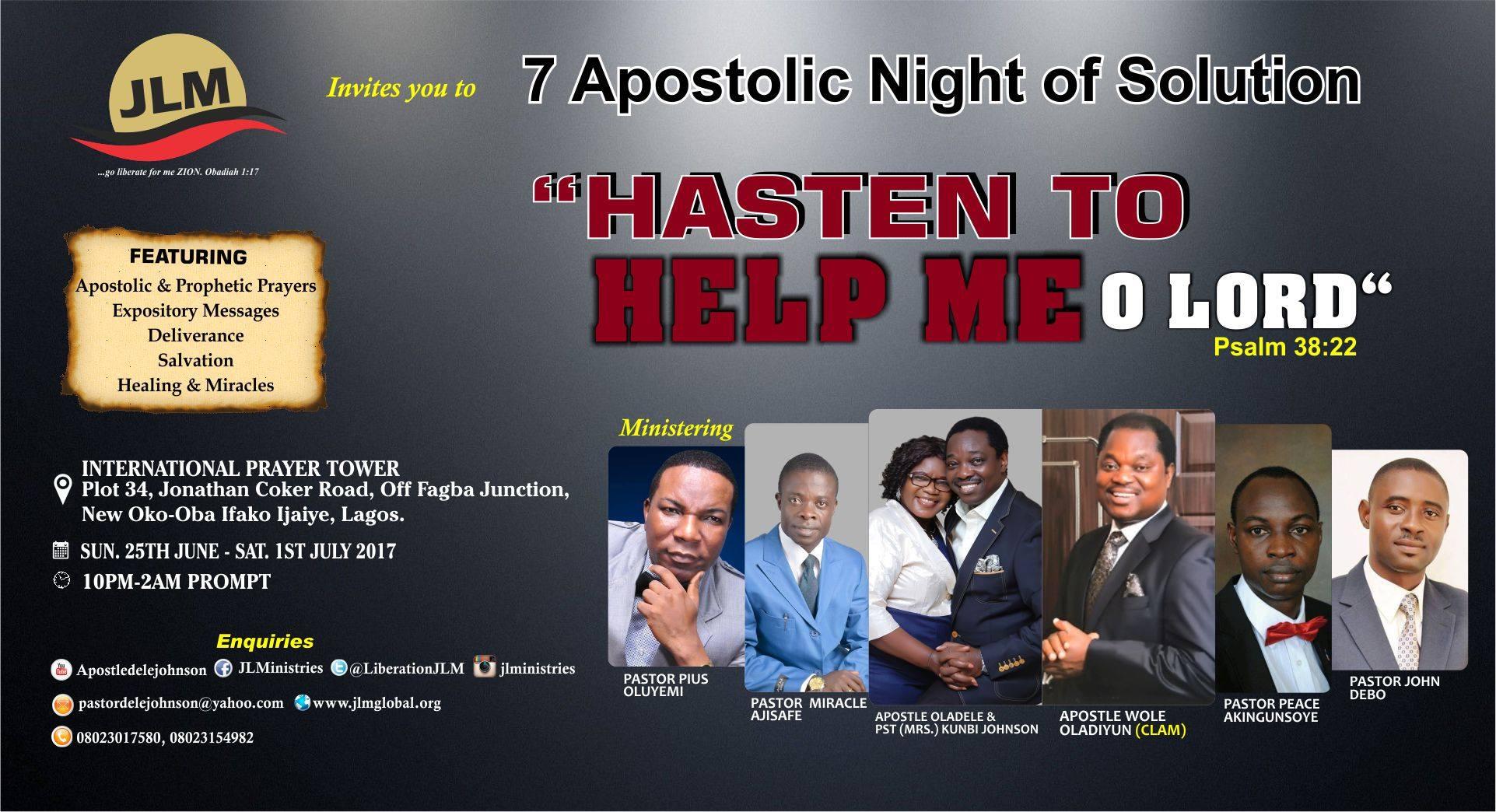 7 Apostolic Night of Solution