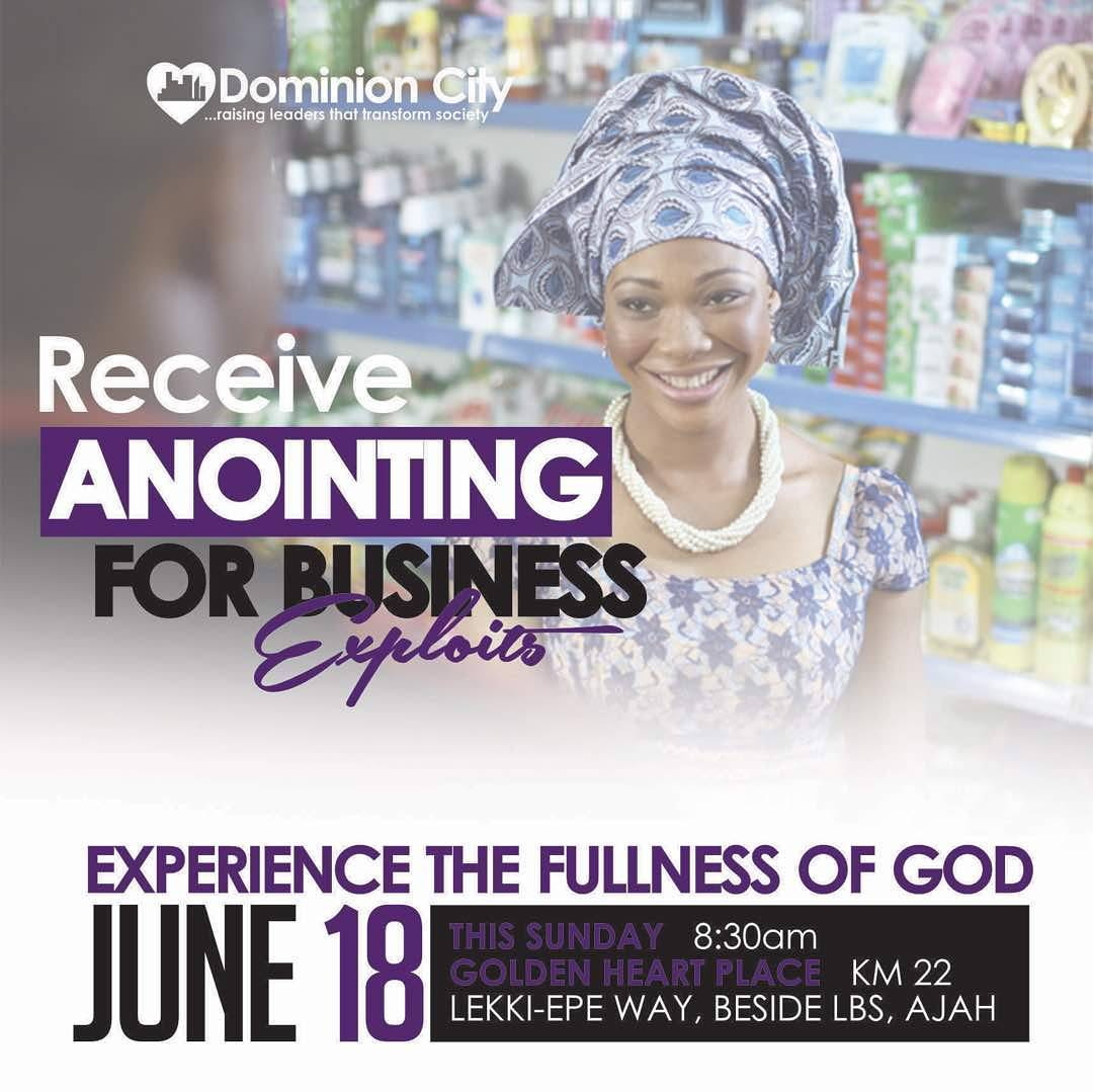 ANOINTING FOR BUSINESS EXPLOIT