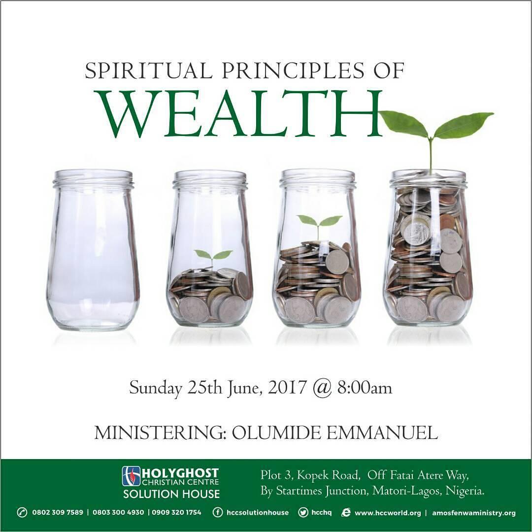 SPIRITUAL PRINCIPLES OF WEALTH