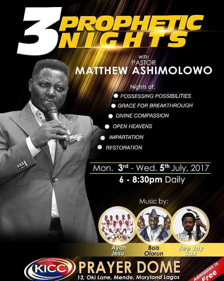 3 PROPHETIC NIGHTS