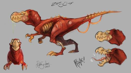 zrex concept art zombie rex