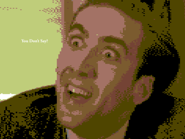 nicolas cage 8 bit gamecage gameboy 16 bit 8bit