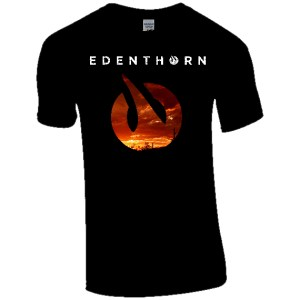 Black Mens Tee - Sunset
