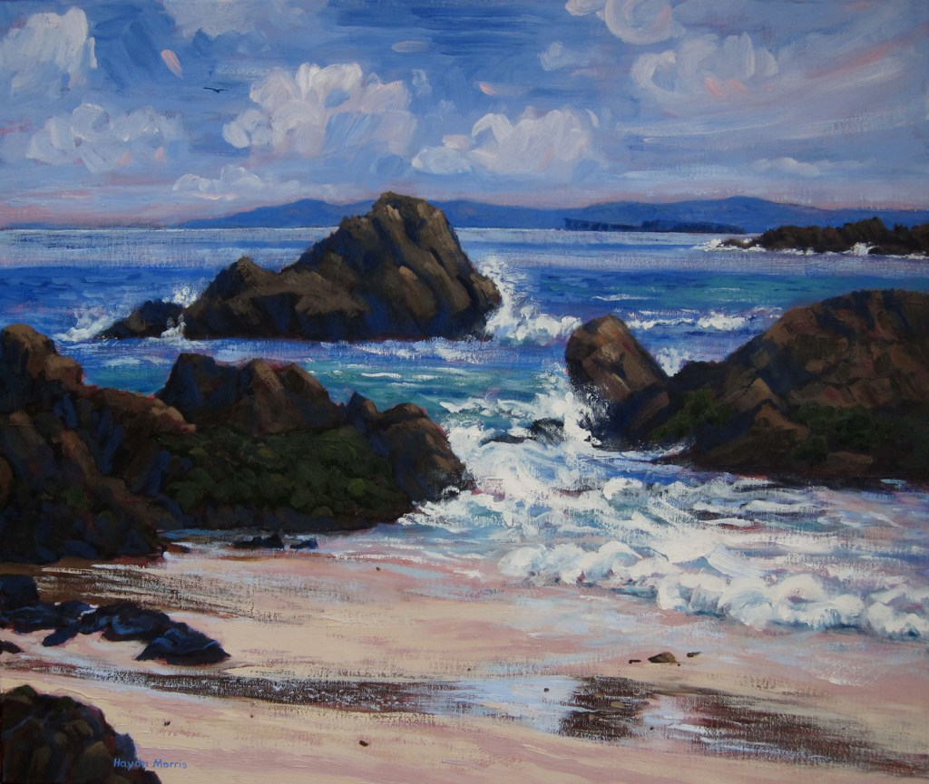 Iona, towards Staffa, breezy, oil on canvas, 50x60cm
