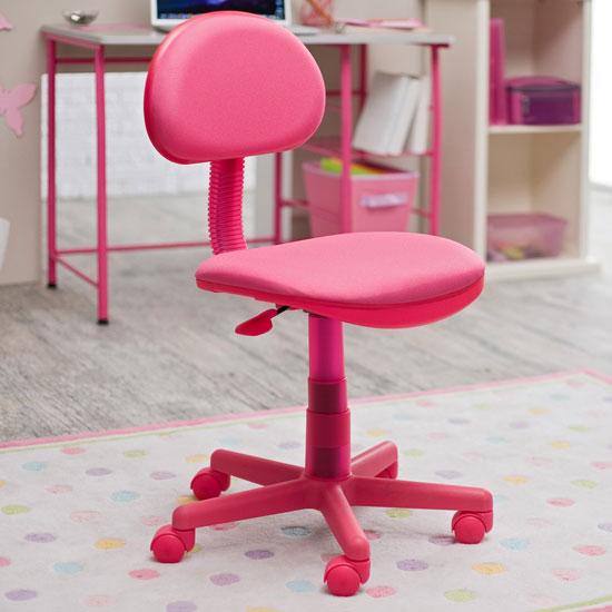 Study Zone II Computer Desk Chair Pink Girly Design Eden Nicole